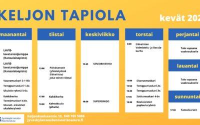 Jyväskylän seudun Nuorisoseuran järjestämää toimintaa Tapiolan talossa ja muualla Jyväskylässä