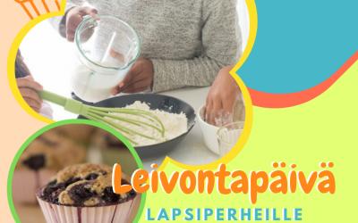 Perheiden leivontapäivä perjantaina 27.8.